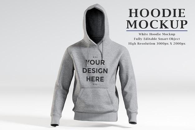 Schaufenster des hoodie-modells isoliert