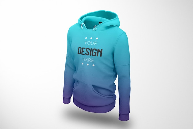 Schaufenster-hoodie-modell isoliert