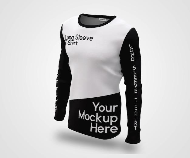 Schaufenster-mann-langarm-t-shirt mockup