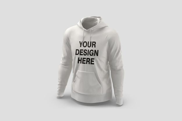 Schaufenster von hoodie mockup design rendering isoliert