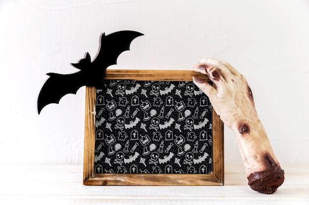 Schiefermodell mit halloween-konzept