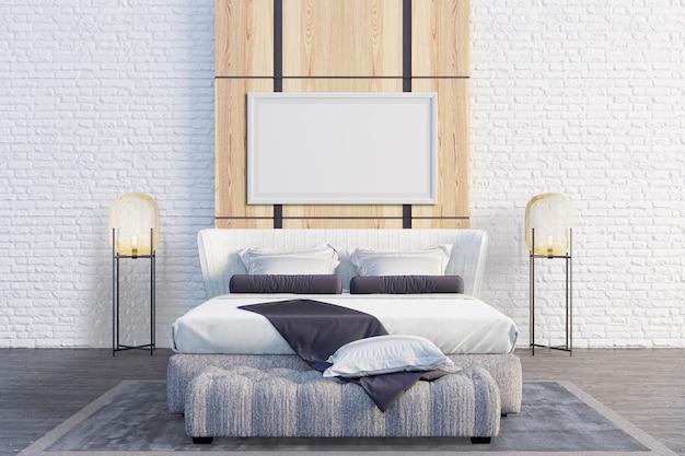 Schlafzimmer mit holzwänden als akzente