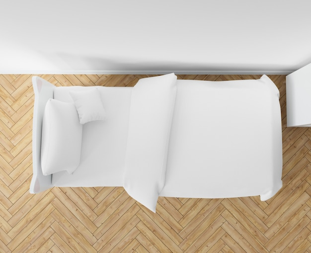 Schlafzimmer mit weißen bettwäsche