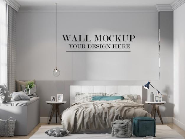 Schlafzimmerwandmodell im skandinavischen design