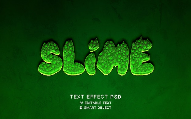Schleim-design mit texteffekt