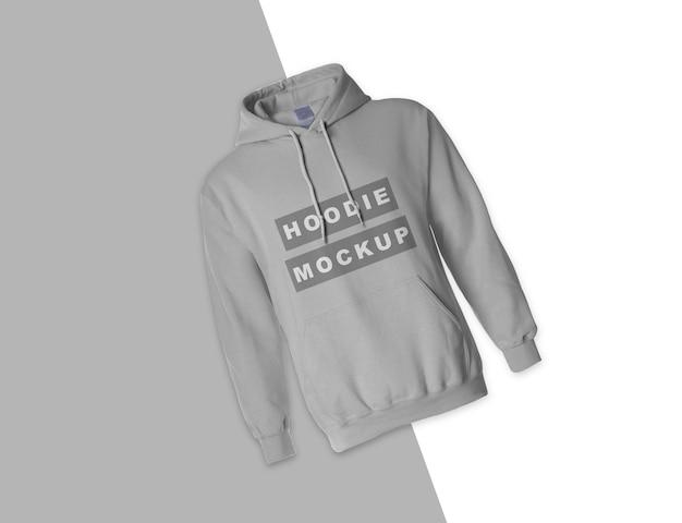 Schließen sie oben auf grauem hoodie-modellentwurf