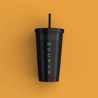 Schließen sie oben auf kaffeetasse modell isoliert