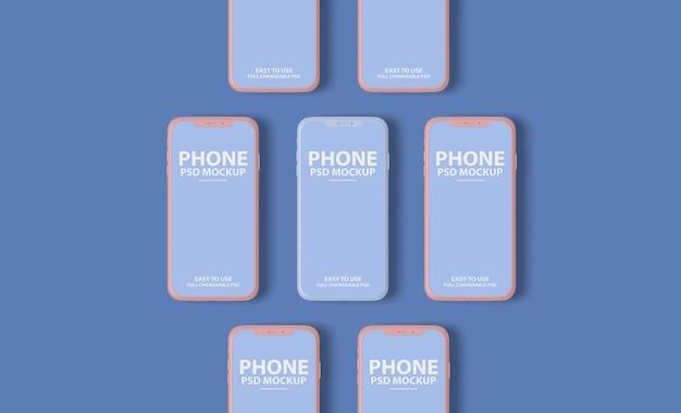 Schließen sie oben auf luxus smartphone bildschirm modell design