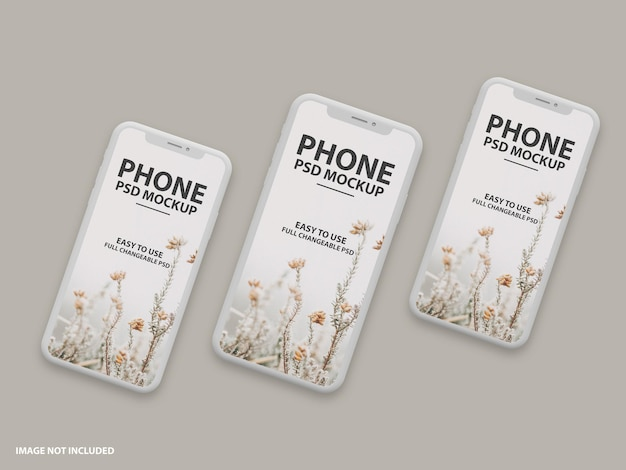Schließen sie oben auf luxus-telefonbildschirm-modellentwurf