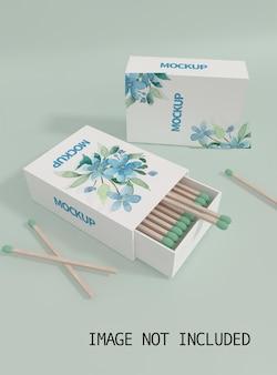 Schließen sie oben auf zigarettenpackungsmodell