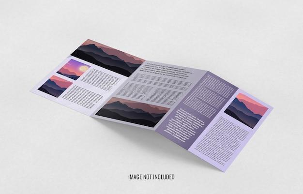 Schließen sie oben dreifach broschüre mockup design