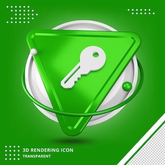 Schließfach-schlüsselsymbol 3d-rendering