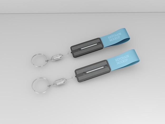 Schlüsselanhänger mit metallischem ringmodell