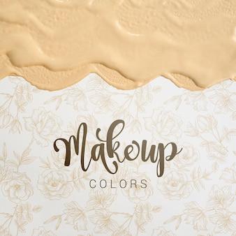 Schminke farben mit schriftzügen