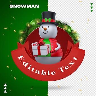 Schneemann-girlanden-geschenk beim 3d-rendern