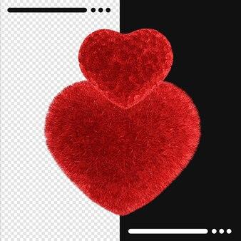 Schöne glückliche valentinstag in 3d-rendering isoliert isoliert