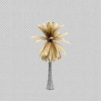 Schöne pflanze in 3d-rendering isoliert