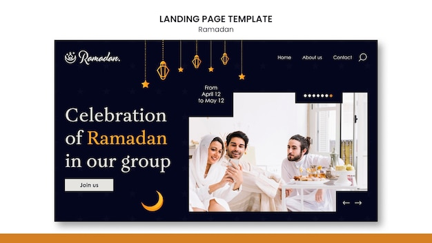 Schöne ramadan landing page vorlage