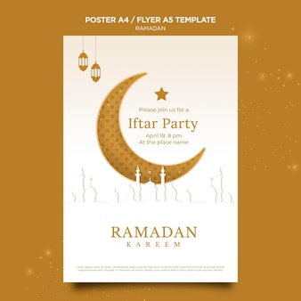 Schöne ramadan-plakatschablone