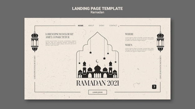 Schöne ramadan-webvorlage