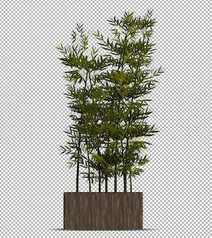 Schöne realistische 3d-pflanze im topf lokalisiert