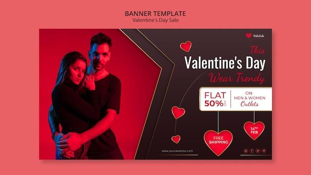 Schöne valentinstag banner vorlage