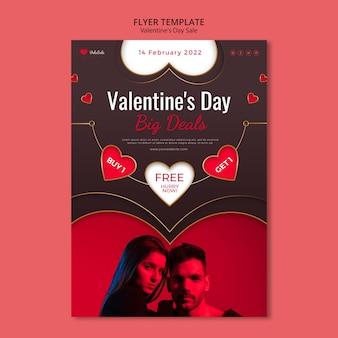 Schöne valentinstag flyer vorlage