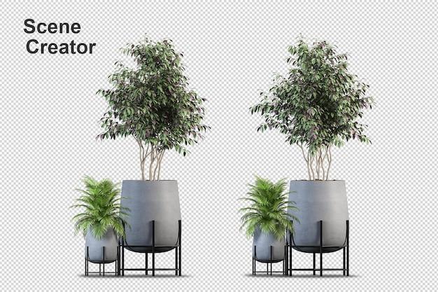 Schöne vielfalt an pflanzen in verschiedenen stilen