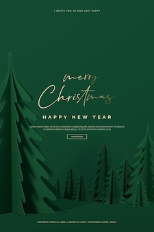 Schöne weihnachts- und frohes neues jahr karte