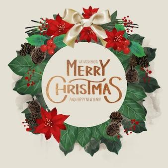 Schöne weihnachtskranzschablone