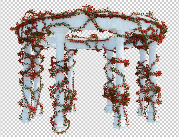 Schöner 3d render brush tree isoliert