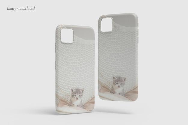 Schöner fall telefon mockup design isoliert