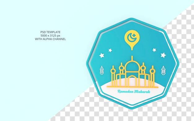 Schöner ramadanikonen-3d-stil