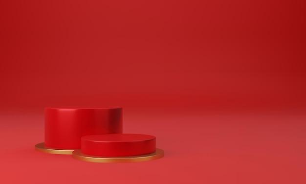 Schöner sockel mit minimalem designkonzept