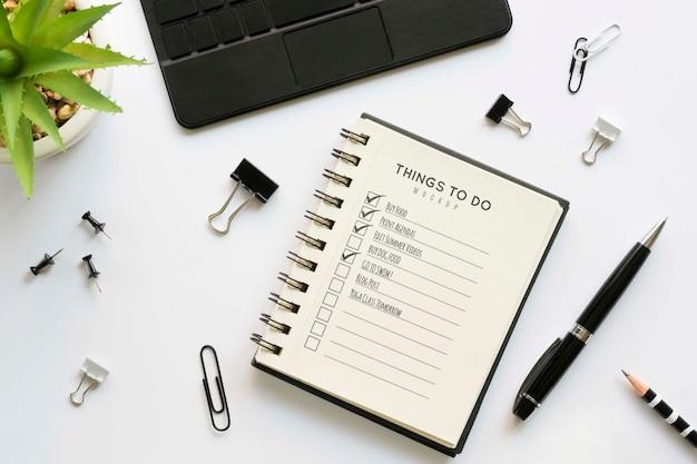 Schönes briefpapier minimales konzept