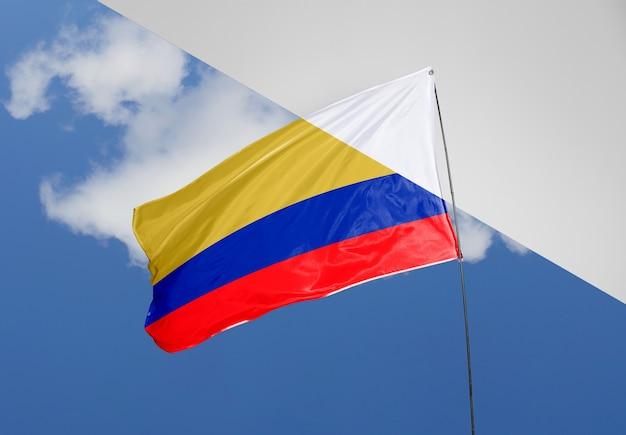 Schönes flaggenkonzeptmodell