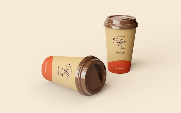 Schönes modell zum mitnehmen von kaffeetassen aus papier