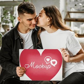 Schönes paar valentinstag modell