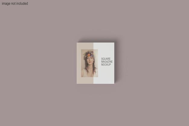 Schönes quadratisches magazin-modelldesign