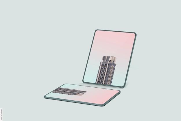 Schönes smart-tablet-modell