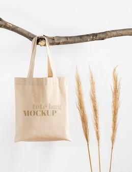 Schönes textil-einkaufstaschenmodell