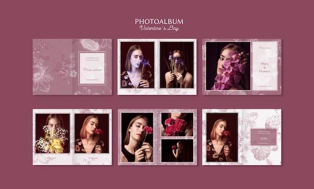 Schönes valentinstagfotoalbum