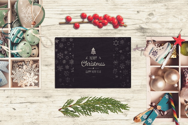 Schönes weihnachtskartenmodell