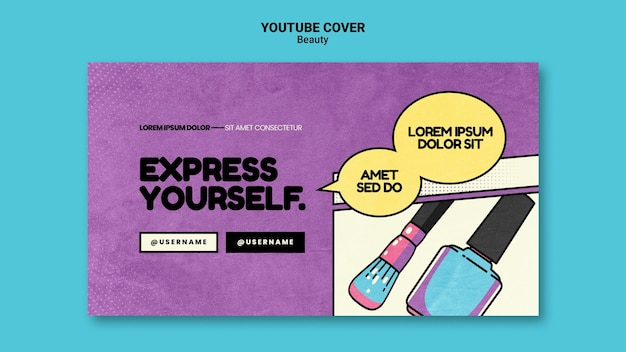 Schönheit pop-art youtube-cover