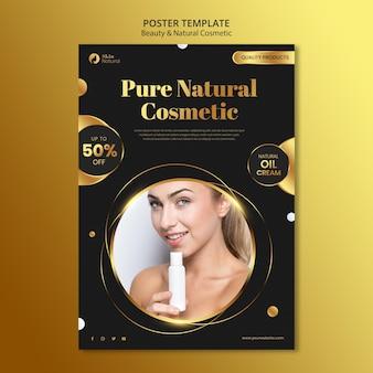 Schönheits- und naturkosmetikplakat