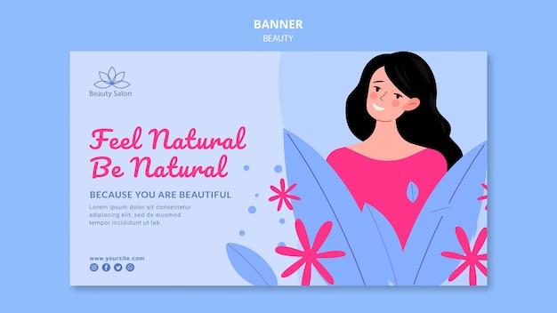Schönheitsfahnenschablone illustriert