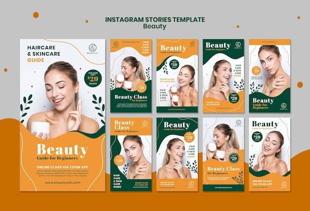 Schönheitskonzept instagram geschichten vorlage