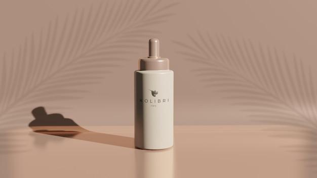Schönheitsprodukt logotyp mockup kostenlos psd