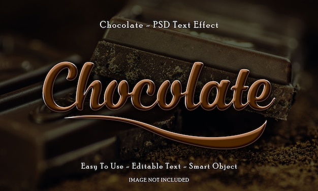Schokoladen 3d text effekt