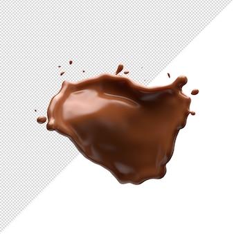 Schokoladenmilchspritzer 3d realistisch
